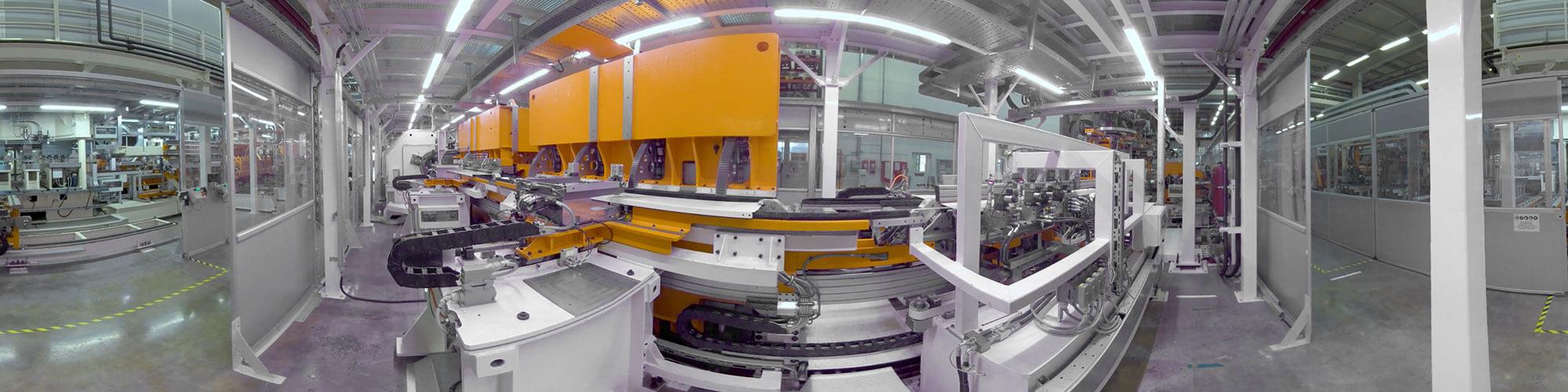 Aufnahme einer Maschine in 360 Grad