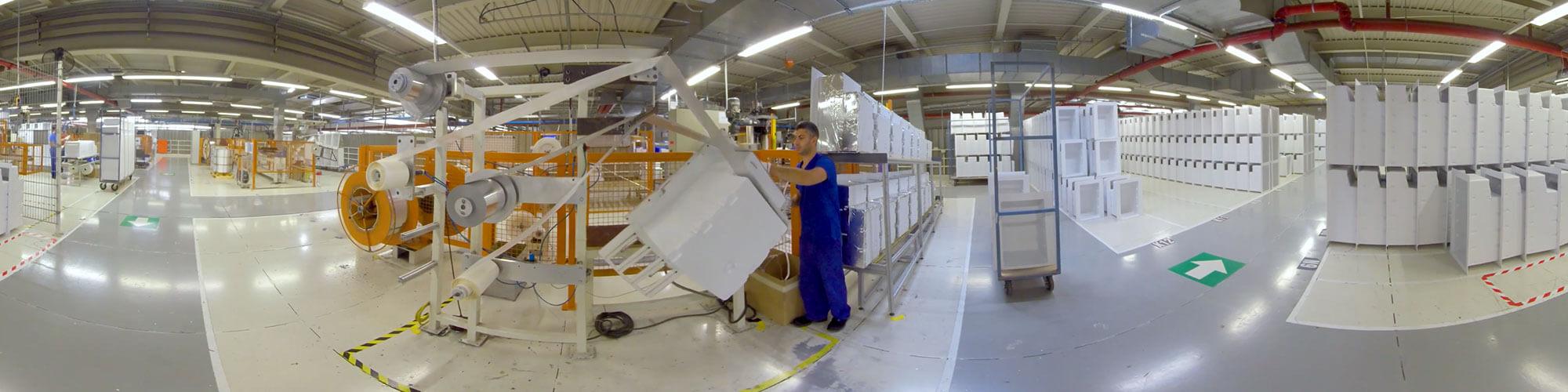 Aufnahme einer Produktion in 360 Grad